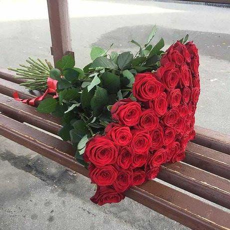 Розы. Шикарный букет 101 роза! Розы, доставка цветов. Подарок любимой