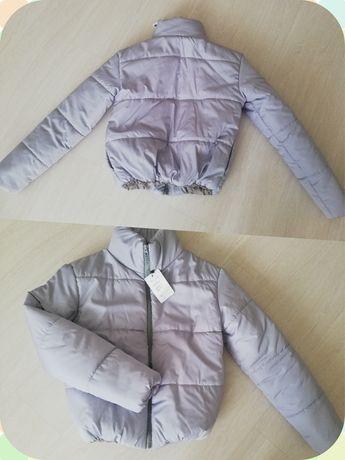 Куртка демисезонная пудра серый