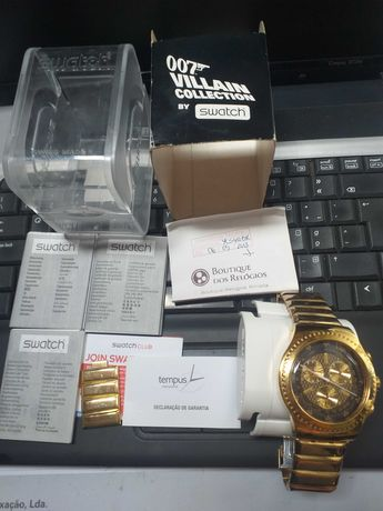 Relogio swatch  007 Goldfinger