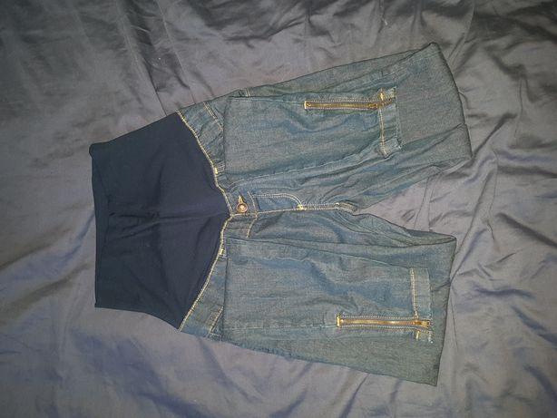 Spodnie ciążowe happymum happy 34 xs jeansy wąskie nogawki zamki