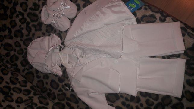 Ubranko do chrztu dla chłopca + buciki