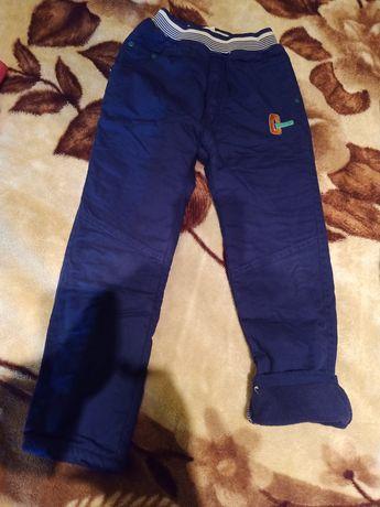 Spodnie ocieplane 122-128 - 2 szt. + Sweterek rozpinany
