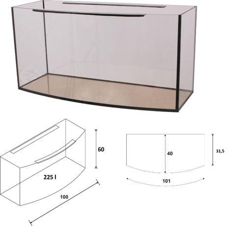 Akwarium 100x40x60 owalne 220 litrów