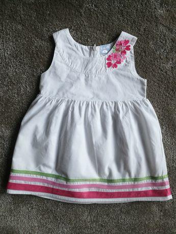 Biała sukienka 51015 rozmiar 80-stan idealny