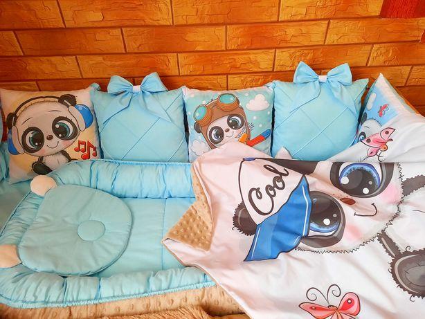 Детский комплект постельного в кроватку. Кокон. Бортики. Плед.