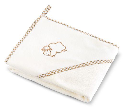 Bocioland Okrycie Kąpielowe Ręcznik Z Kapturkiem 100X100Cm Beige 0037