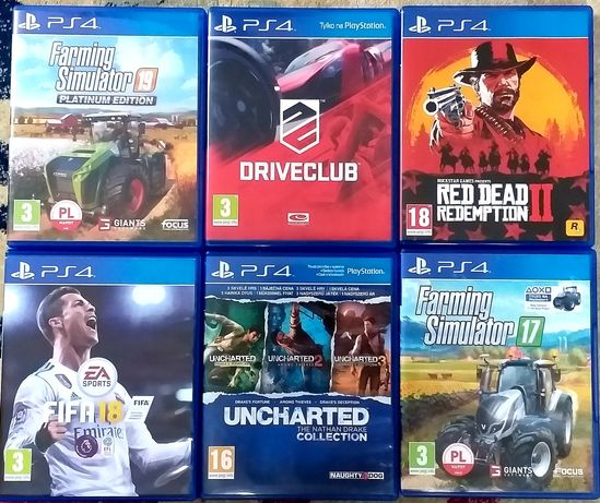 Gry na ps4 farming simulator FIFA red dead redemption driveclub