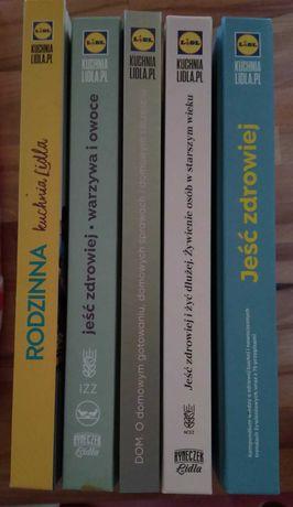 Książki kucharskie LIDL + Dom - zestaw 5 szt