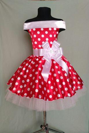Детское ретро платье. Платье в горох. Стиляги. Выпускное плать