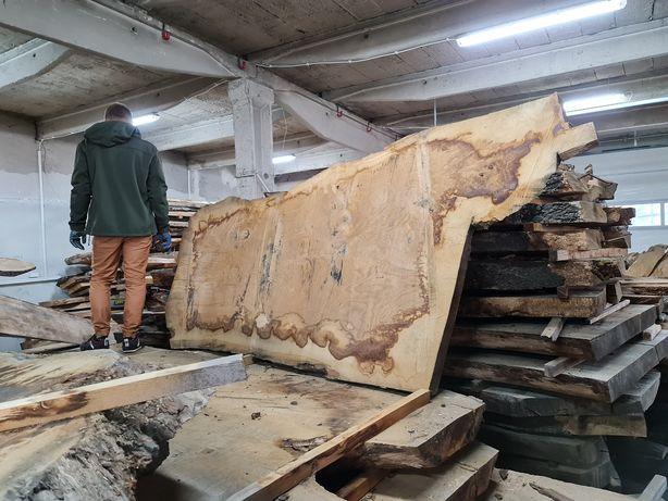 Suche blaty na stół monolit live edge loft wood epoxy massivholz