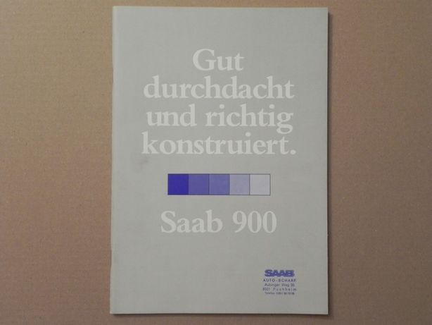 Prospekt - SAAB 900 . 1980 r