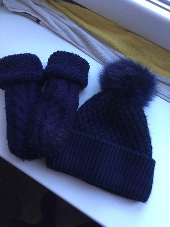 Комплект варежки и шапка