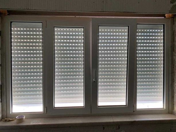 Janela de vidro duplo e caixilho de PVC Climalit