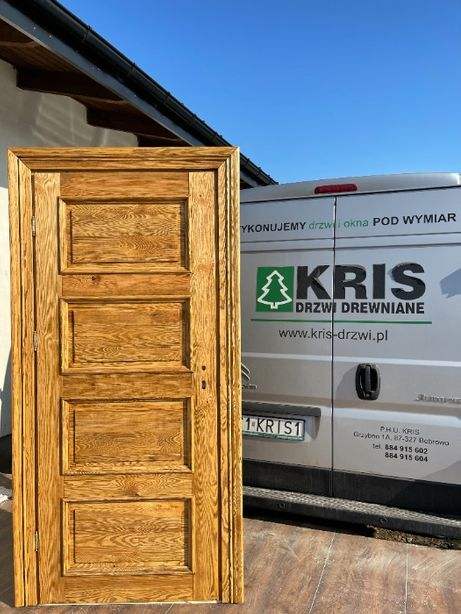Drzwi LITE drewniane sosnowe szczotkowane ,OLEJOWANE CAŁY KRAJ
