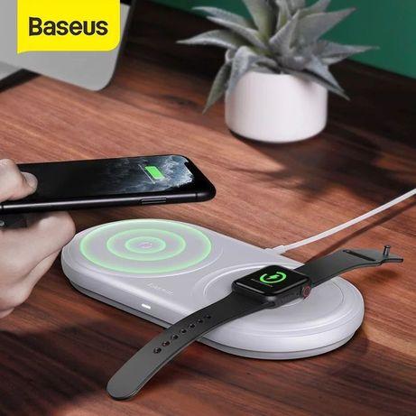 Carregador Wireless Smartphone e Smartwatch - Original BASEUS - 24h