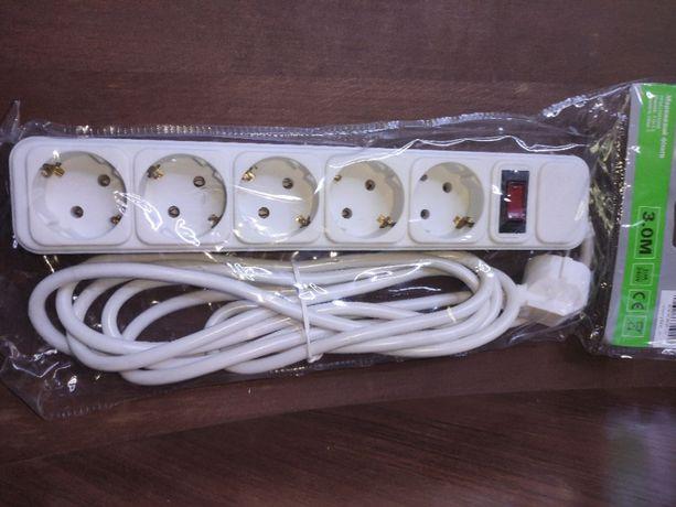 Сетевой фильтр PowerPlant 3 м 5 розеток (PPSA10M30S5)