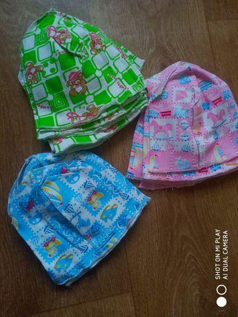 Шапочки для новорождённых, колпаки