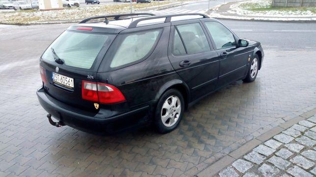 Saab 95 , 2.0 turbo , LPG - 4 letni , jeździ na obu paliwach. HAK HOL.