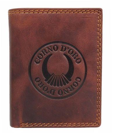 Portfel ze skóry męski CORNO DORO brązowy CD32009NC nowość