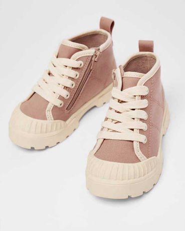 Ботинки кеды для девочки Zara H&M 26 размер