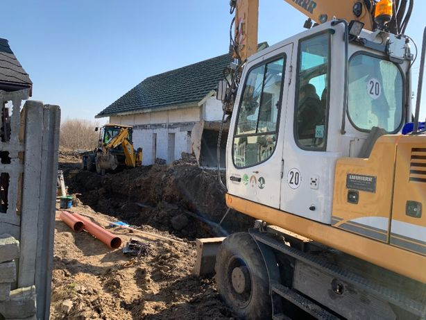 Budowa sieci wod-kan przyłącza kanalizacyjne przyłącza wodne