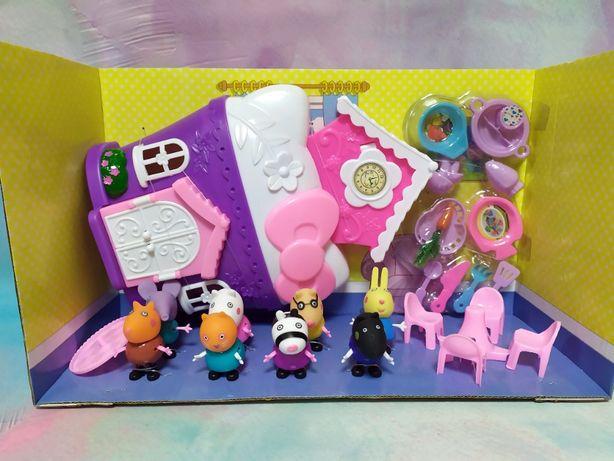 Домик с мебелью Свинки Пеппа Peppa с фигурами из мультфильма