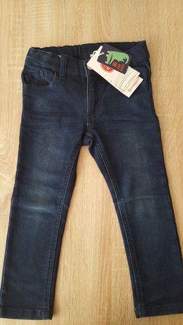 Spodnie jeansy skinny  r.98 dla chłopca nowe!