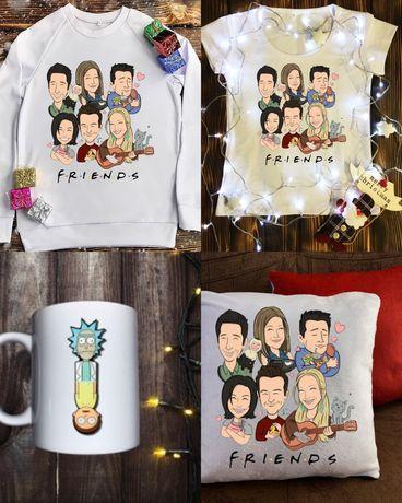 Печать на футболках свитшотах чашках подушках одежде друк на одязі
