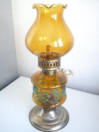 Antiga lampada a alcol ou petroilo para decoracion e colecion feita a