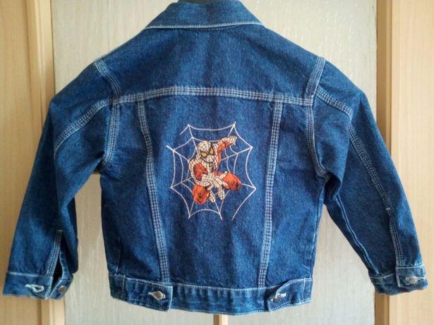 Katana, kurtka, bluza dżinsowa wiosenno jesienna SPIDER-MAN 122/128