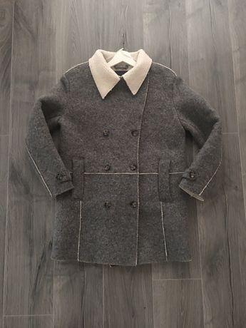 Zara kurtka futrzana futerko płaszcz welniany katana M/L jesienna H&M