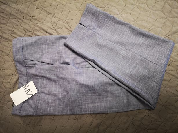Markurkowe spodnie na kant do garnituru Zara r. 42