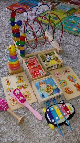 Zabawki drewniane dla malucha stan idealny