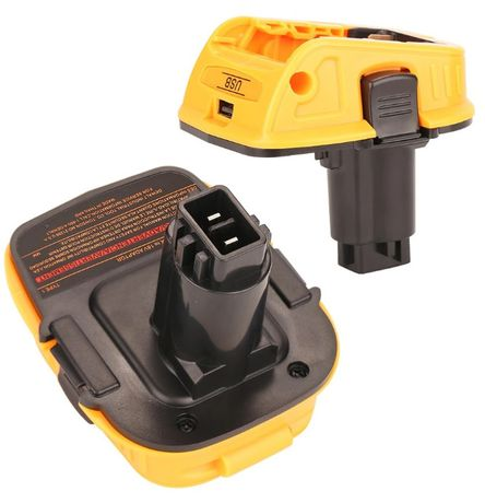 adapter konwerter przejściówka akumulator dewalt 18V stare baterie USB