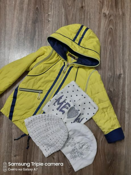 Куртка-жилетка деми, зимняя куртка на девочку, размер 30