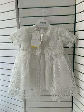 Нарядное платье 2в1 для крещения, фотосесии.