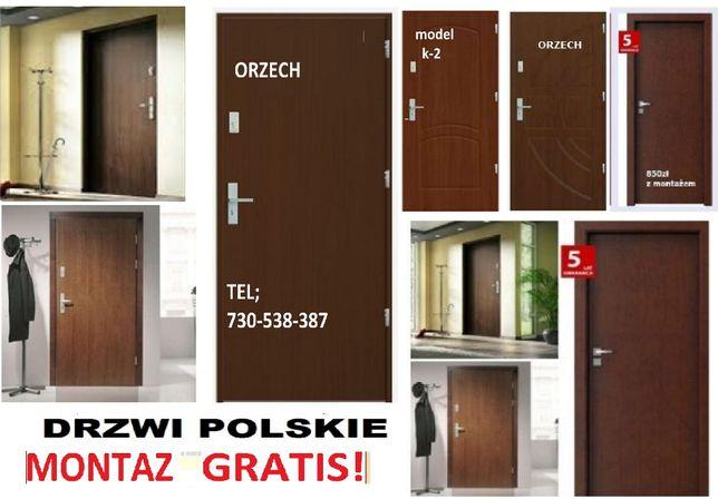 Drzwi do mieszkania w bloku zewnętrzne z MONTAŻEM, wejściowe KOMPLET