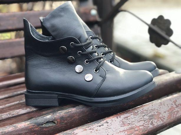 Распродажа остатков на складе!Ботинки из натур. кожи высокого качества