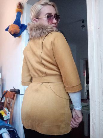 Пальто, стильное, натуральное