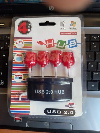 Vaso com 4 portas USB - muito bonito para mulher.
