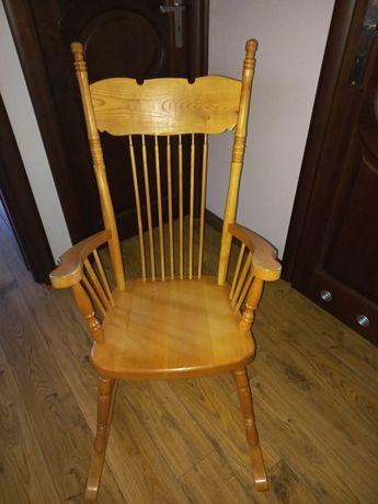Sprzedam fotel bujany, lite drewno