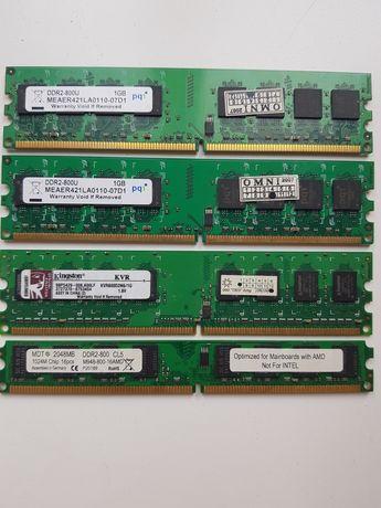 Продам память ddr2  3×1G и 1×2G