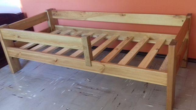 Łóżko dziecięce / młodzieżowe sosnowe 70 x 160 cm