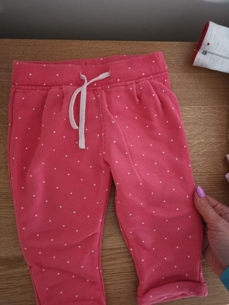 Spodenki różowe w malutkie białe kropeczki dla dziewczynki