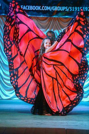 Восточный костюм. Крылья бабочки. Костюм для восточного танца - шоу.