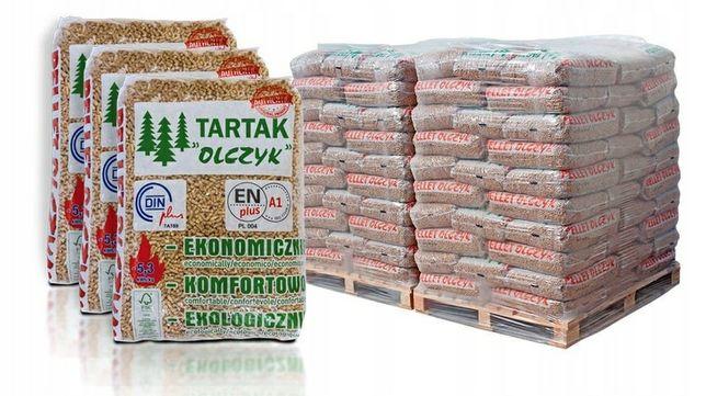 Dostawa GRATIS OLCZYK pellet drzewny EN A1 sosnowo świerkowy Barlinek