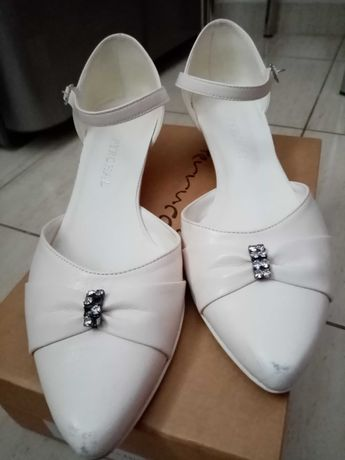 Buty ślubne ecru