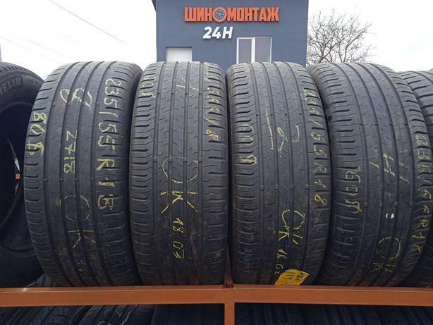 235/55R18 Continental EcoContact 5 б/в літні шини - ціна 200$/комплект