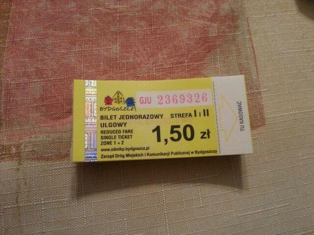 bilety MZK Bydgoszcz ulgowe taniej 30 zl-100sztuk