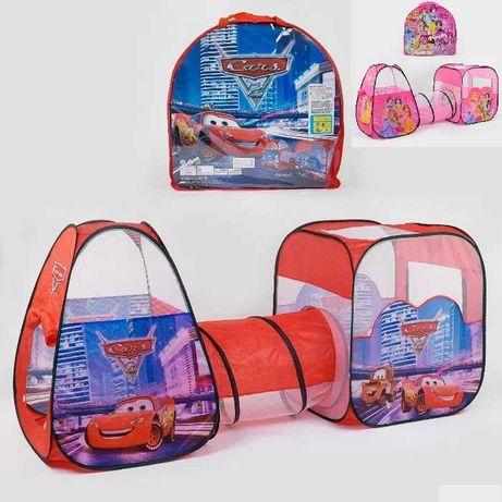 Детская палатка с тоннелем тачки, принцессы 270 х 92см ЛЬВОВ